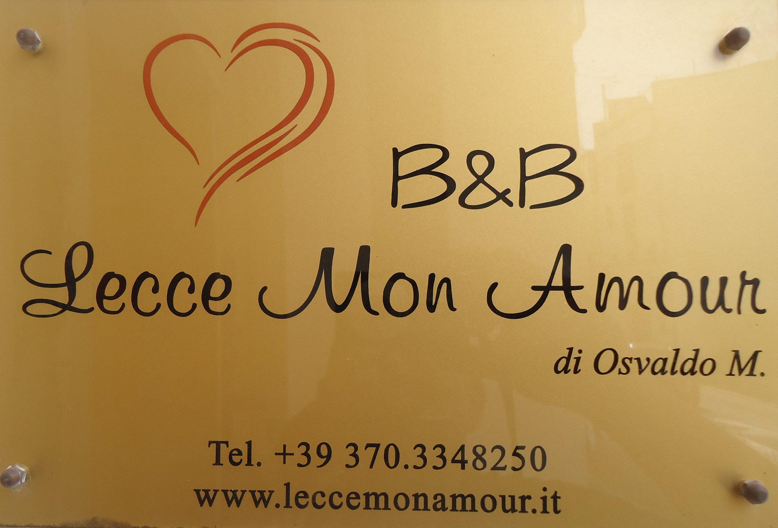 Lecce Mon Amour B&B       Tel. +39 3703348250